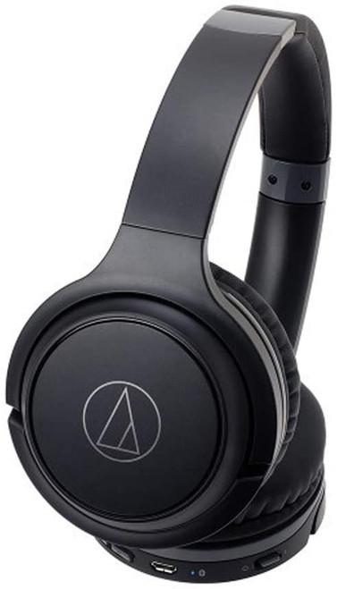 Audio-Technica ATH-S200BTBK-RB Bluetooth Wireless Headphones, Black - Refurbished