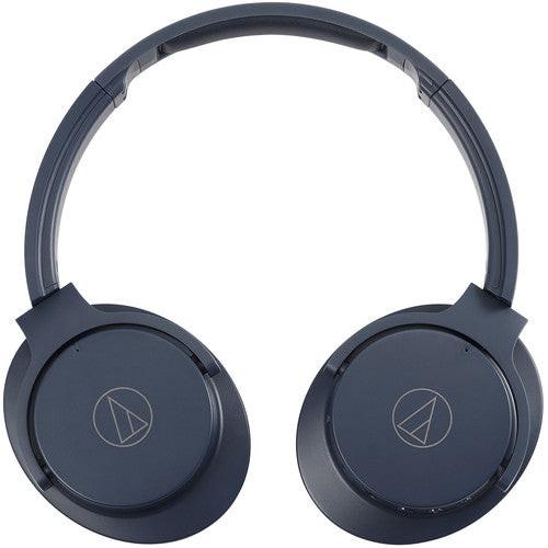 Audio-Technica ATH-ANC500BTNV-RB QuietPoint Wireless Headphones Navy Refurbished