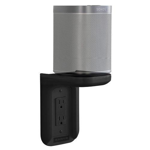 SANUS WSOS1-B1 Sonos One/One SL/ PLAY:1 Speakers Outlet Shelf Black