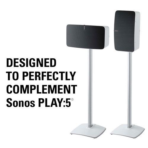 SANUS WSS51-W1 Sonos Play 5 Premium Wireless Speaker Stand Single White