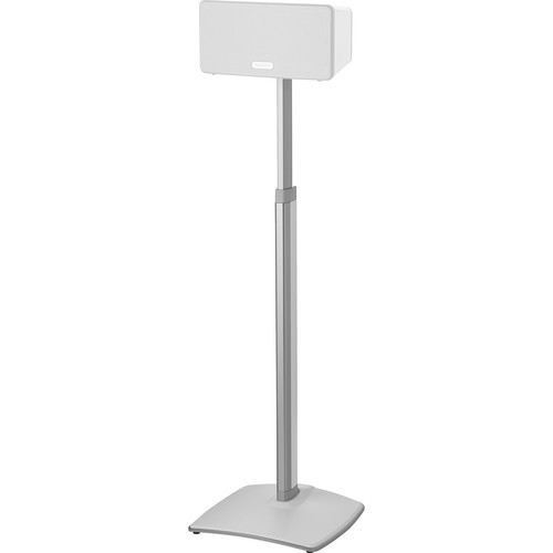 SANUS WSSA2-W1 Sonos One, PLAY:1, and PLAY:3 Premium Adjustable Height Wireless Speaker Stand / Pair White