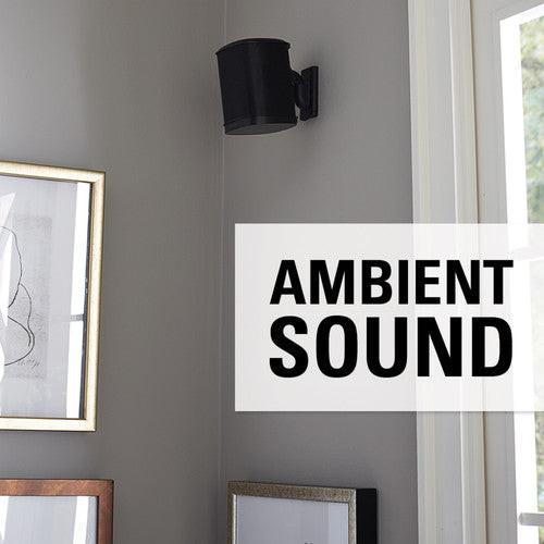 SANUS WSWM22-B1 Sonos One PLAY1 PLAY3 Wireless Speaker Wall Mount Black Pair