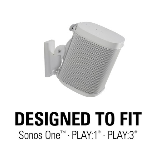 SANUS WSWM22-W1 Sonos One PLAY1 PLAY3 Wireless Speaker Wall Mount White Pair