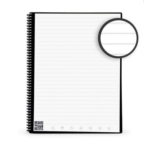 """Rocketbook EVR2-E-K-CIG Core Executive Notebook Lined 36 Pages 6"""" x 8.8"""" Gray"""
