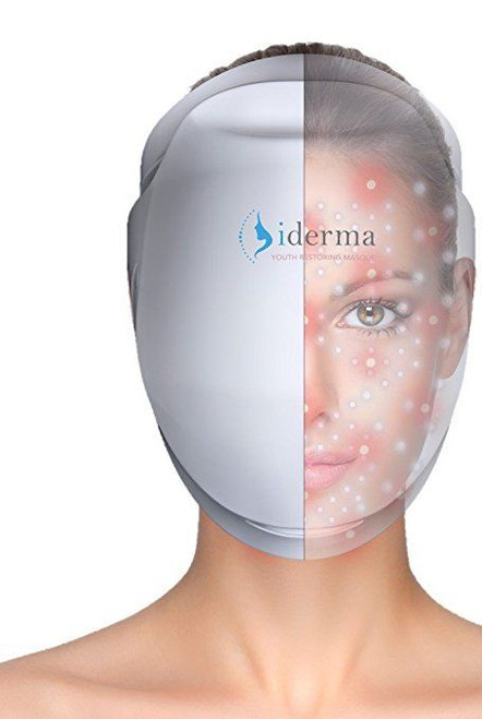 Apira iDerma PE104IDR00 Youth Restoring Face Masque, Anti Aging LED Light Therapy Facial NEW!