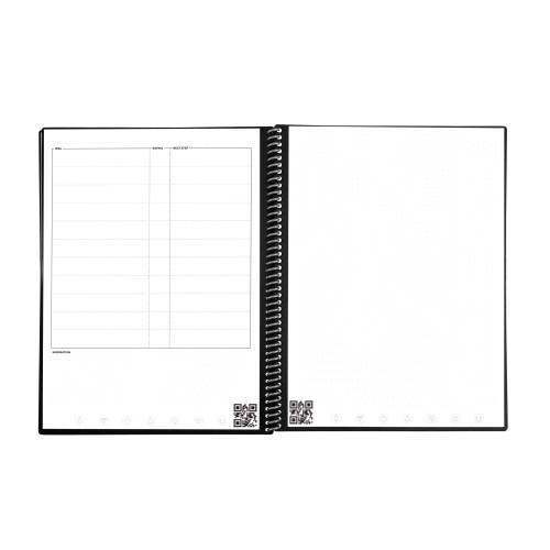 Rocketbook EVRF-E-M-K-CME Fusion Mini Notebook 2 Pens 2 Cloths Maroon Executive
