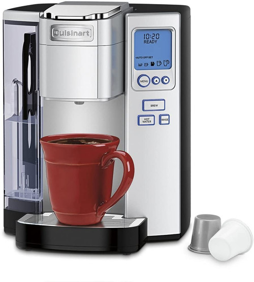 Cuisinart SS-10FR Premium Single-Serve Coffeemaker, Light Grey - Certified Refurbished