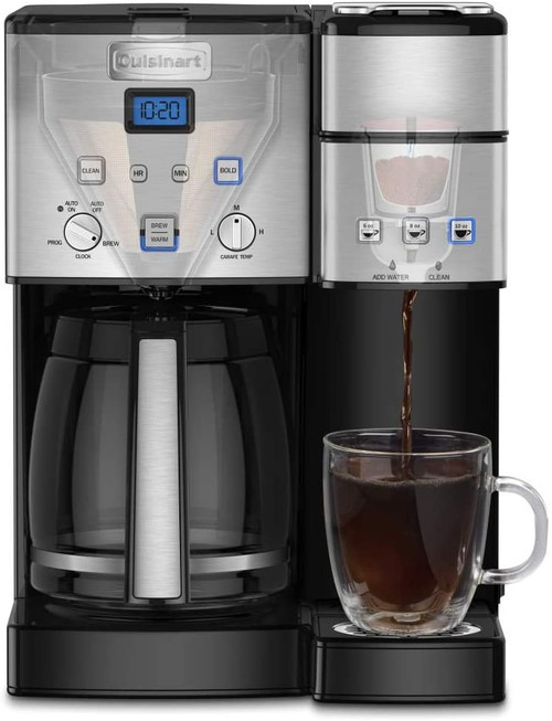 Cuisinart SS-15FR SS-15 Single-Serve 12-Cup Combo Coffeemaker - Refurbished