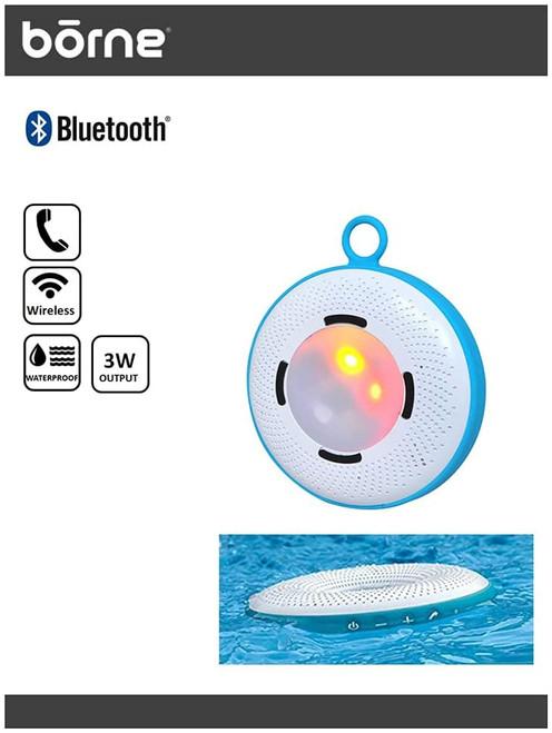 Borne BTSPK45 Waterproof Floating Speaker with LED changing Lights