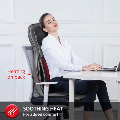 Comfier CF-2309 Neck and Back Massager with Heat Shiatsu Chair - Refurbished