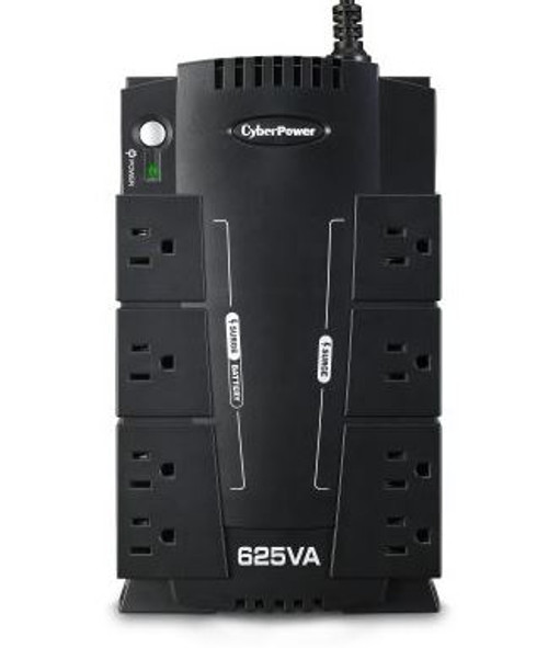 CyberPower 625VA Battery Back-Up System,CP625HG-R