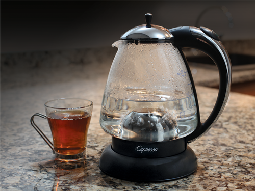 """Capresso H20BLK-RB 259 Water Kettle, 10"""" x 8.25"""" x 6.25"""", Polished Chrome - Certified Refurbished"""