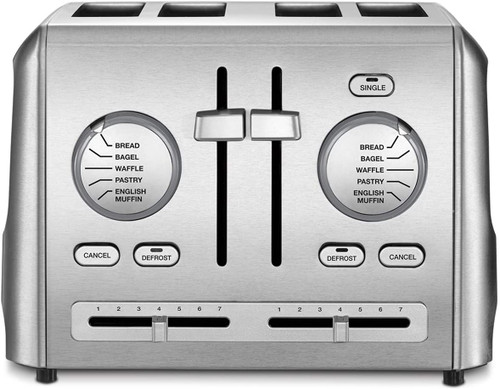 Cuisinart CPT-640FR CPT-640 4-Slice Metal Toaster, Stainless Steel - Certified Refurbished