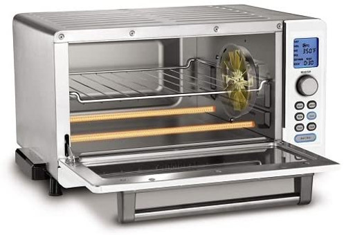 Cuisinart TOB-135WFR Deluxe Convection Toaster Oven Broiler, White - Certified Refurbished