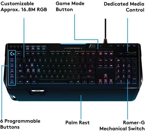 Logitech K920-008012X G910 Orion Spectrum RGB Mechanical Gaming Keyboard - Seller Refurbished