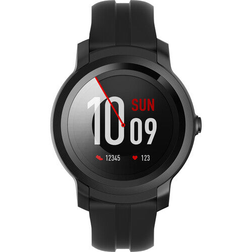 TicWatch P1022000600-RB E2 Smartwatch GPS Waterproof iOS and Android Black - Certified Refurbished
