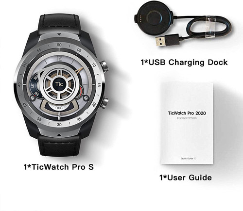 TicWatch P1031005400-RB Pro S GPS IP68 Waterproof OS by Google Smartwatch Silver - Certified Refurbished