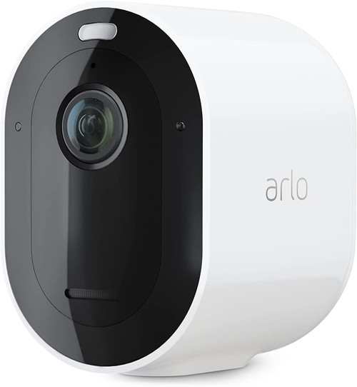 Arlo VMC4350P-100NAR Pro 4 Spotlight Camera 3 Pack Wireless Security, 2K Video & HDR, Color Night Vision, 2 Way Audio, Wire-Free, Direct to WiFi No Hub Needed, White - Certified Refurbished
