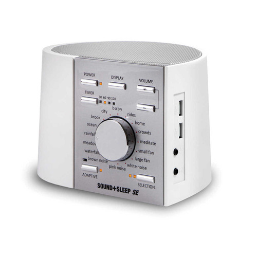 ASTI ASM1005 Sound+Sleep SE Sound Machine - White/Silver