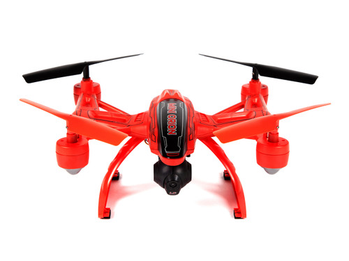 World Tech Toys Elite Mini Orion 33884 2.4GHz 4.5CH LCD Live-View Camera RC Drone- Red