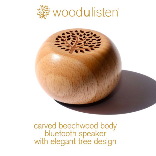 Woodulisten WUL-NATURAL-SINGLE Wooden Wireless Mini Bluetooth Speaker