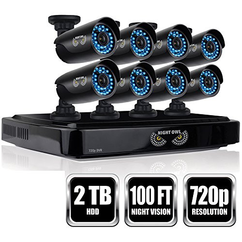 Night Owl Security AHD7-882-R 8 Channel Smart Video System with 2 TB HDD and 8x720p HD Cameras - Certified Refurbished