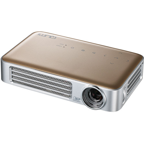 Vivitek Qumi Q6-GD-R Q6 800 Lumen WXGA LED MHL HDMI GOLD Projector with Wireless and Miracast Capability - Certified Refurbished