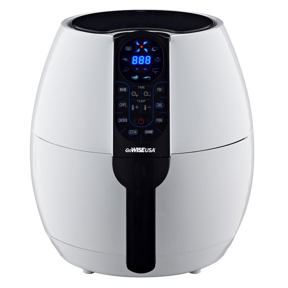 GoWISE USA GW22638 8-in-1 Electric Air Fryer Digital 3.7 Qt Black