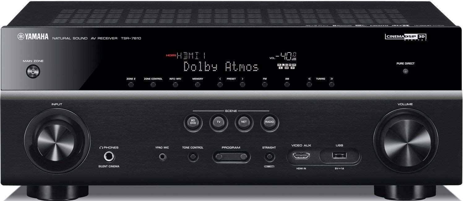 Yamaha TSR-7810-R 7 2 ch 4K Atmos DTS Receiver - Certified Refurbished