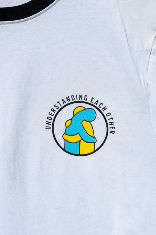 Mental health awareness white t-shirt, earth positive