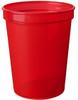 Custom Printed Reusable Stadium Cups - Translucent Red