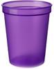 Custom Printed Reusable Stadium Cups - Translucent Purple