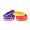 Custom Silicone Wristbands - Debossed with Color Fill