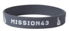 Silicone Wristbands -1/2 Inch Debossed - Color Fill
