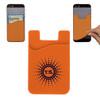 Custom Printed Cell Phone Credit Card Holder - Orange