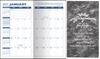 Pocket Calendar Planner - 14 Month Planner - Marble Grey