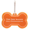 Promotional Bone Shaped Reflective Dog Collar Tags - Orange
