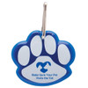 Paw Shaped Promotional Reflective Dog Collar Tags - Blue