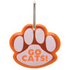 Paw Shaped Promotional Reflective Dog Collar Tags - Orange