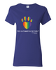 Have You Hugged Your Pet, Multi - Ladies T-Shirt - Cobalt
