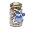 Mini Dog Bones in Pint Jar with Custom Paw Magnet