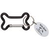 Dog Bone Carabiner with Promotional Imprint - Black