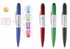 Light Up Logo Disco Pen with Stylus - INFO