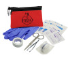 Promotional Pet First Aid Kit Zipper Tote - Red
