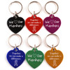 Heart Shaped Dog Collar Tag with Custom Imprint