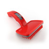 Custom Printed Promotional Retractable Pet Grooming Brush - Red