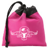 Promotional Drawstring Gift Bag Pouch with Custom Imprint - Hot Pink