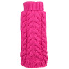 Hand Knit Turtleneck Sweater for Dogs, Pink