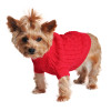 Combed Cotton Cable Knit Sweater for Dogs, Red