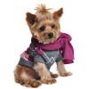 Argyle Purple Cotton Sweater w/Scarf
